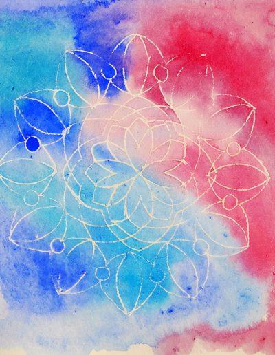 aquarelle batik, cours d'aquarelle à Wissous