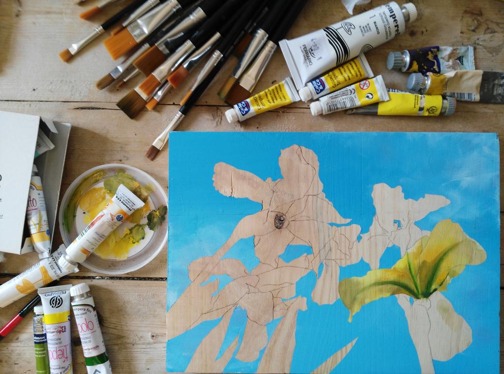 stage de peinture florale à l'aquarelle et acrylique à Wissous/Antony